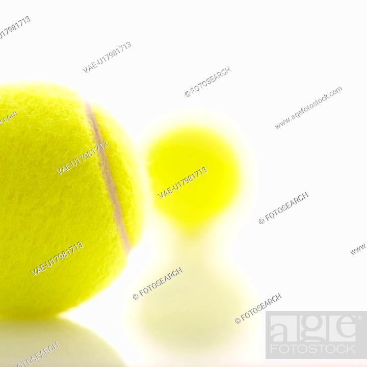 Stock Photo: Two tennis balls.