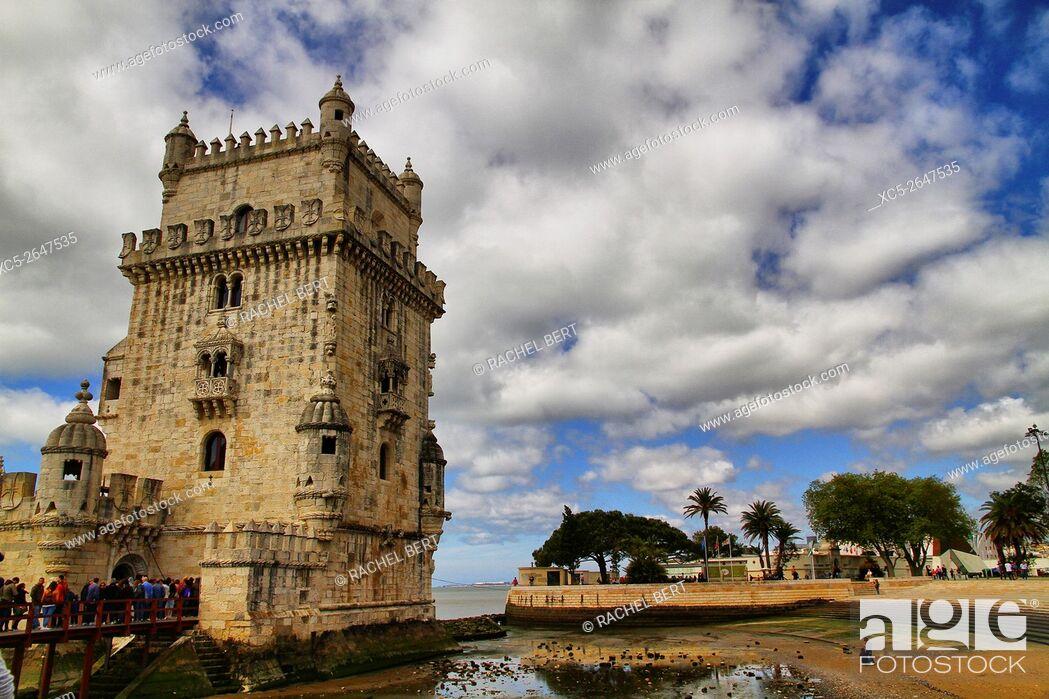 Stock Photo: Tower of Belem, Santa Maria de Belem, Lisbon, Portugal.