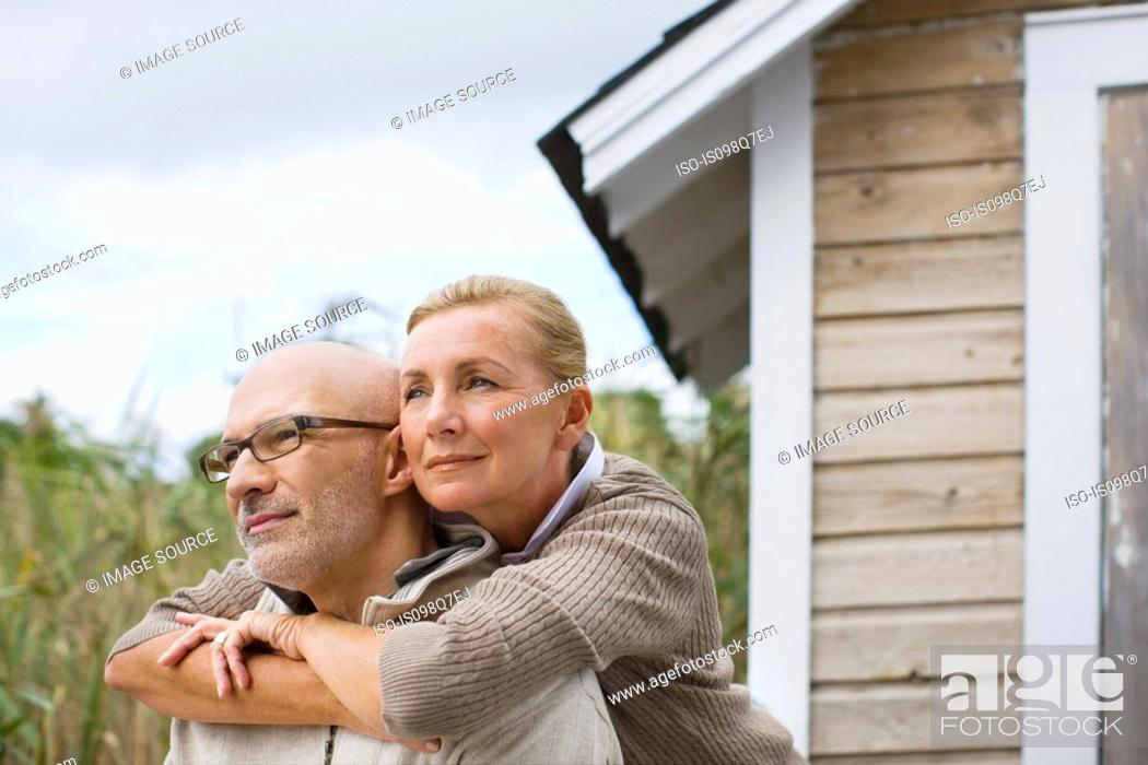 Stock Photo: Couple outdoors.