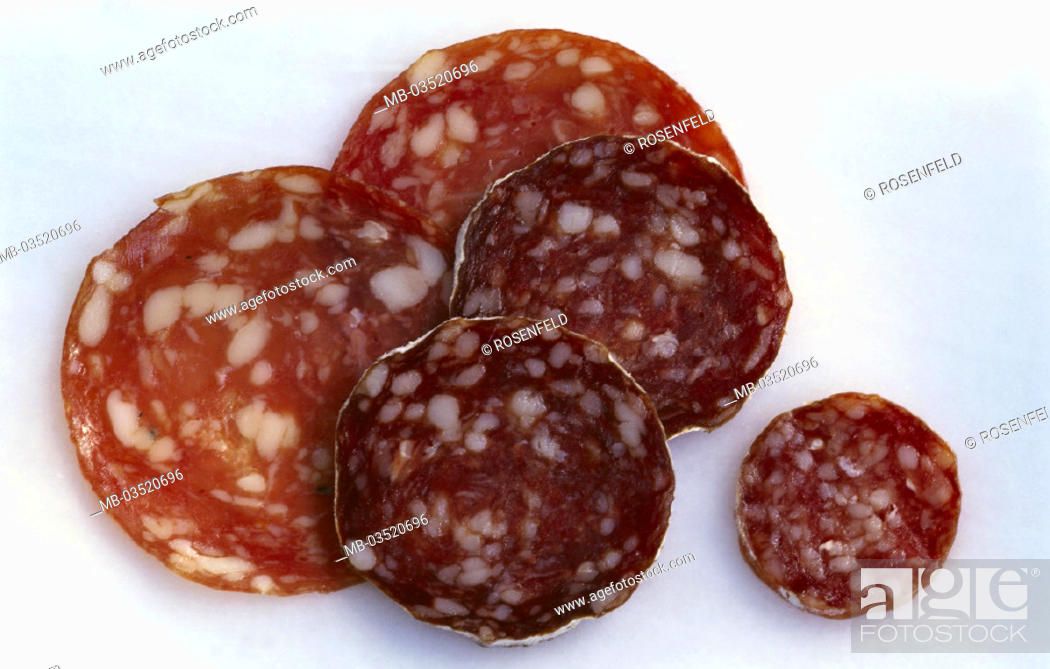 Stock Photo: Salami, Sorts, different.