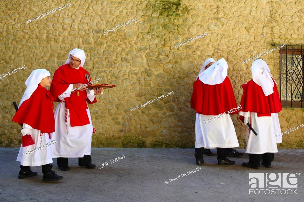 Stock Photo: Italy, Sicily, Enna, Procession of Good Friday.