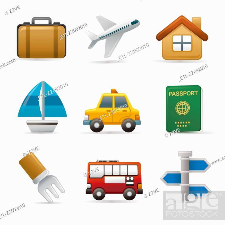 Stock Photo: Transport icon set.