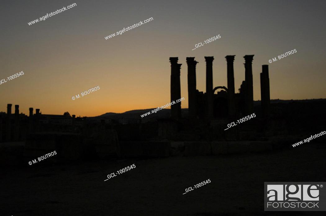 Stock Photo: The Temple of Artemis in Jerash, Jordan.
