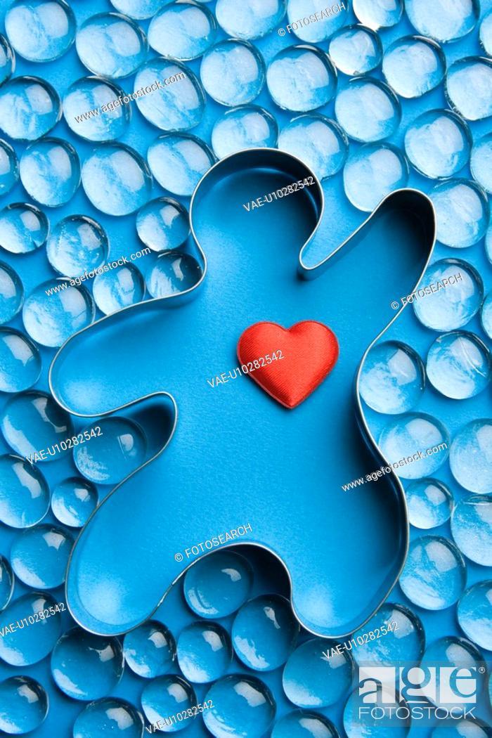 Stock Photo: Blue, Close-Up, Full Frame, Gem, Gingerbread Man.
