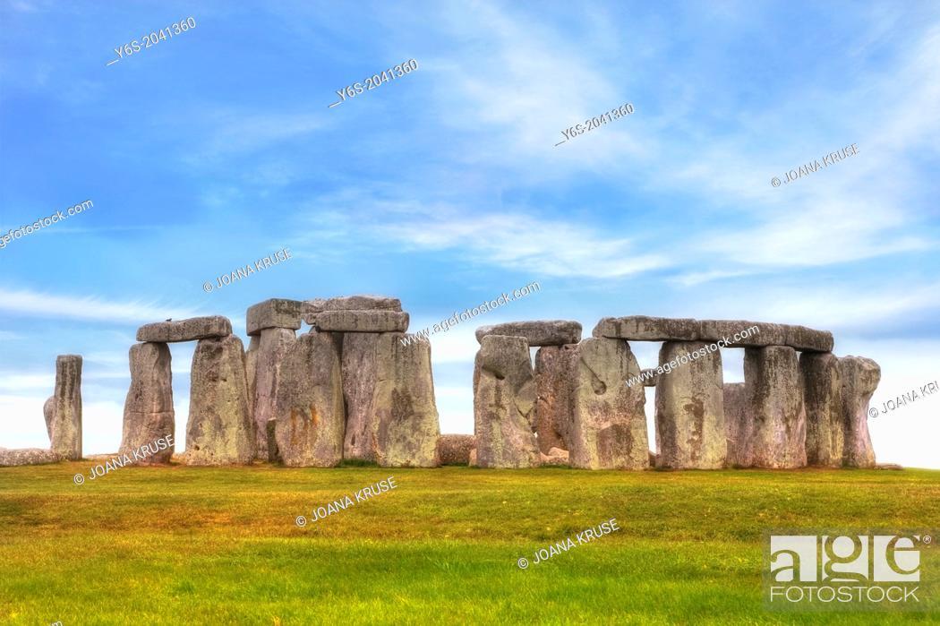 Photo de stock: Stonehenge, Amesbury, Wiltshire, England, United Kingdom.