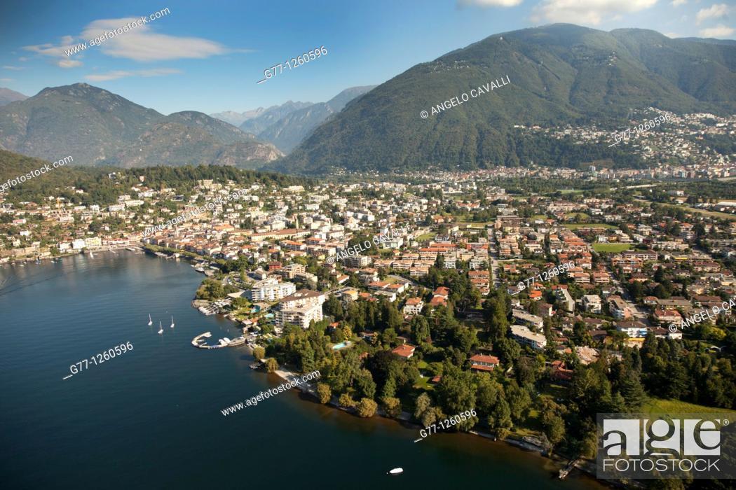 Stock Photo: Ascona, Lake Maggiore, Ticino, Switzerland.
