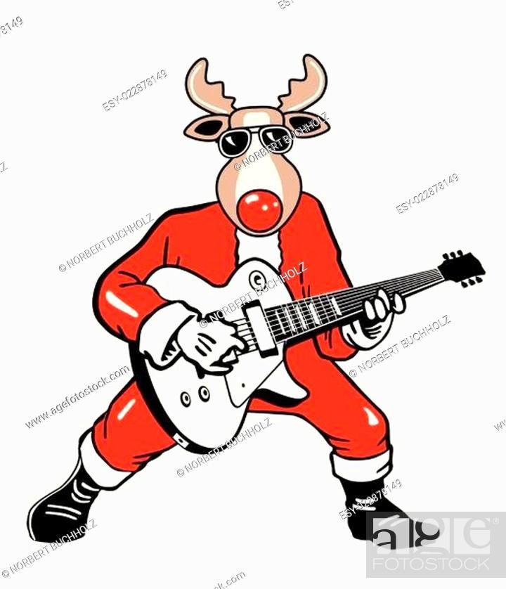 Stock Vector: Weihnachts Rentier Rocker.