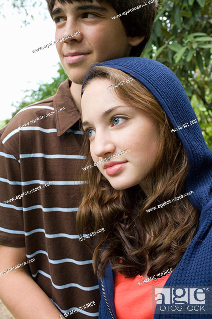 Stock Photo: Portrait of a young couple.