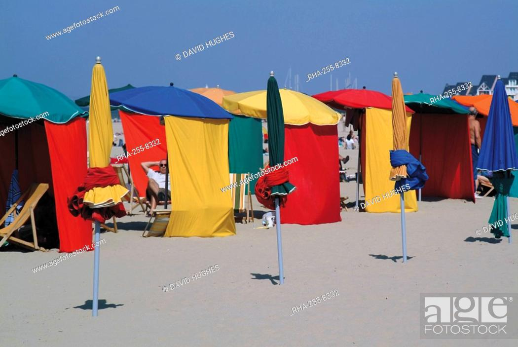 Multi Coloured Beach Tents And