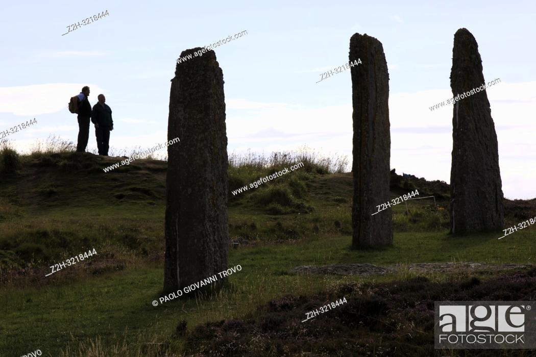 Imagen: Ring of standing stones at Brodgar, Orkney, Scotland, Highlands, United Kingdom.