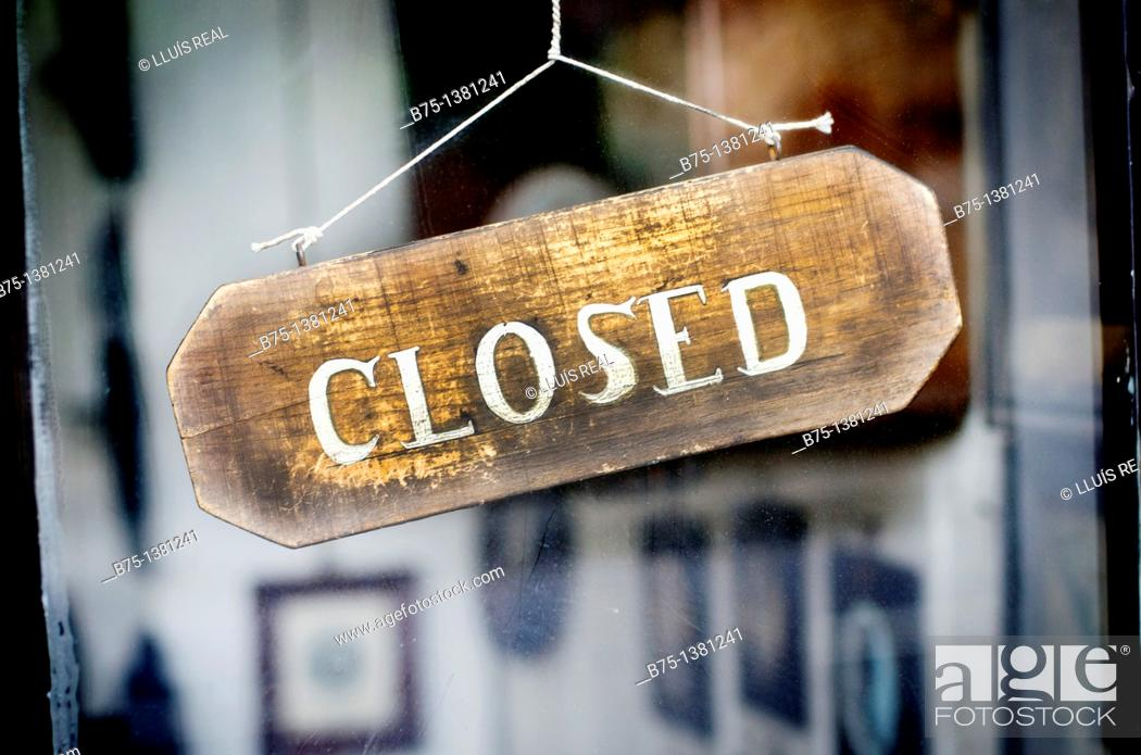 Stock Photo: Closed sign.