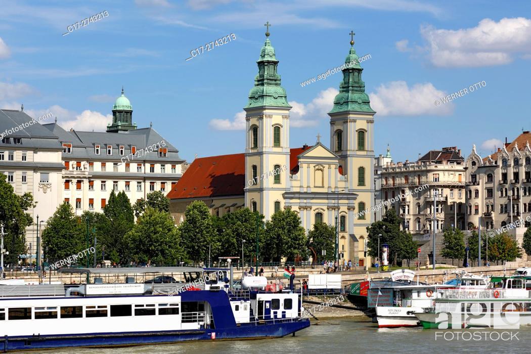 Stock Photo: Hungary, Central Hungary, Budapest, Danube, Capital City, Downtown Parish Church, Church of Our Lady, catholic church, baroque, Gothic, Danube riverwalk.
