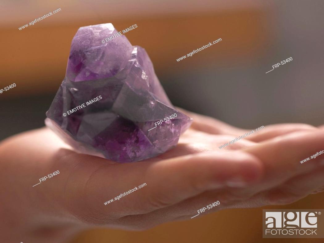 Stock Photo: Healing stone amathyst.