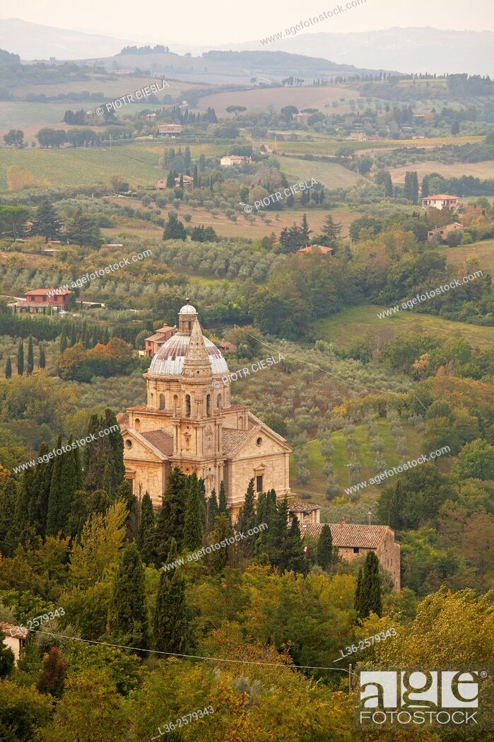Stock Photo: Tuscany. Montepulciano. The Sanctuary of San Biagio.