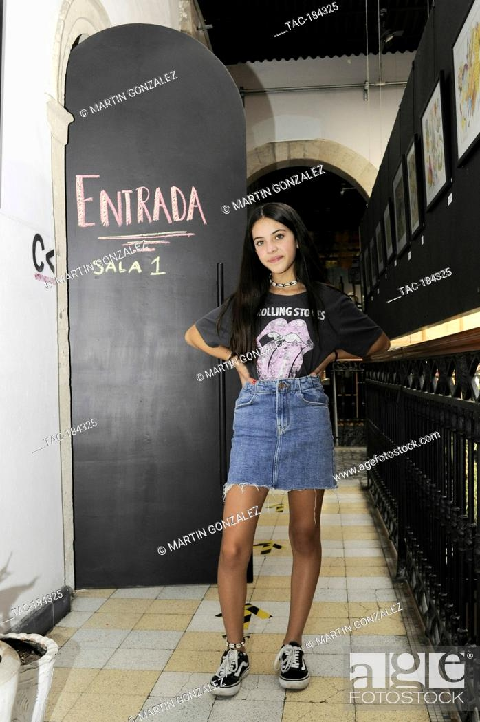 Stock Photo: MEXICO CITY, MEXICO ñ DECEMBER 15: Actress Cassandra Iturralde poses for photos during Emma film press conference at La Casa del Cine Mx.