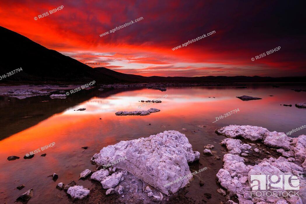 Stock Photo: Evening light over tufa at Mono Lake, Mono Basin National Scenic Area, California USA.