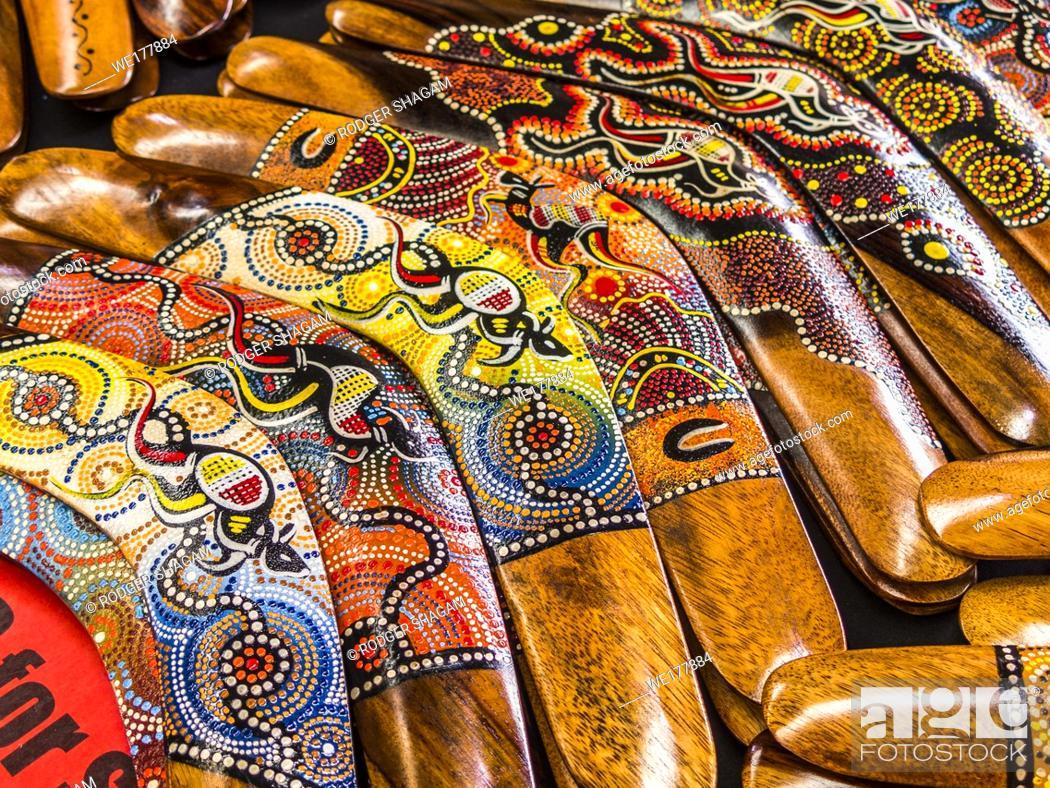 Stock Photo: Aboriginal boomeramgs, Australia.