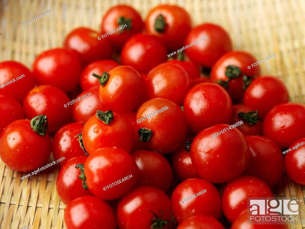 Stock Photo: plants, cherry tomato, fruit, plant.