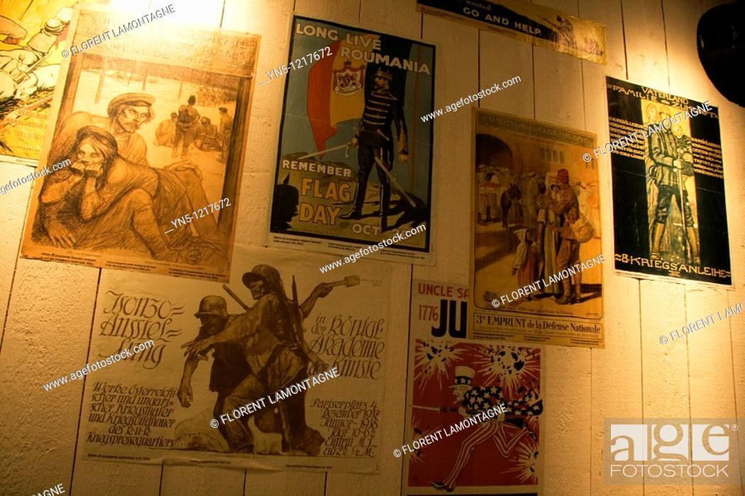 Stock Photo: France, Champagne-Ardenne, Marne 51, Suippes - 'Centre de d'interprétation Marne 14-18', Museum about the First World War.