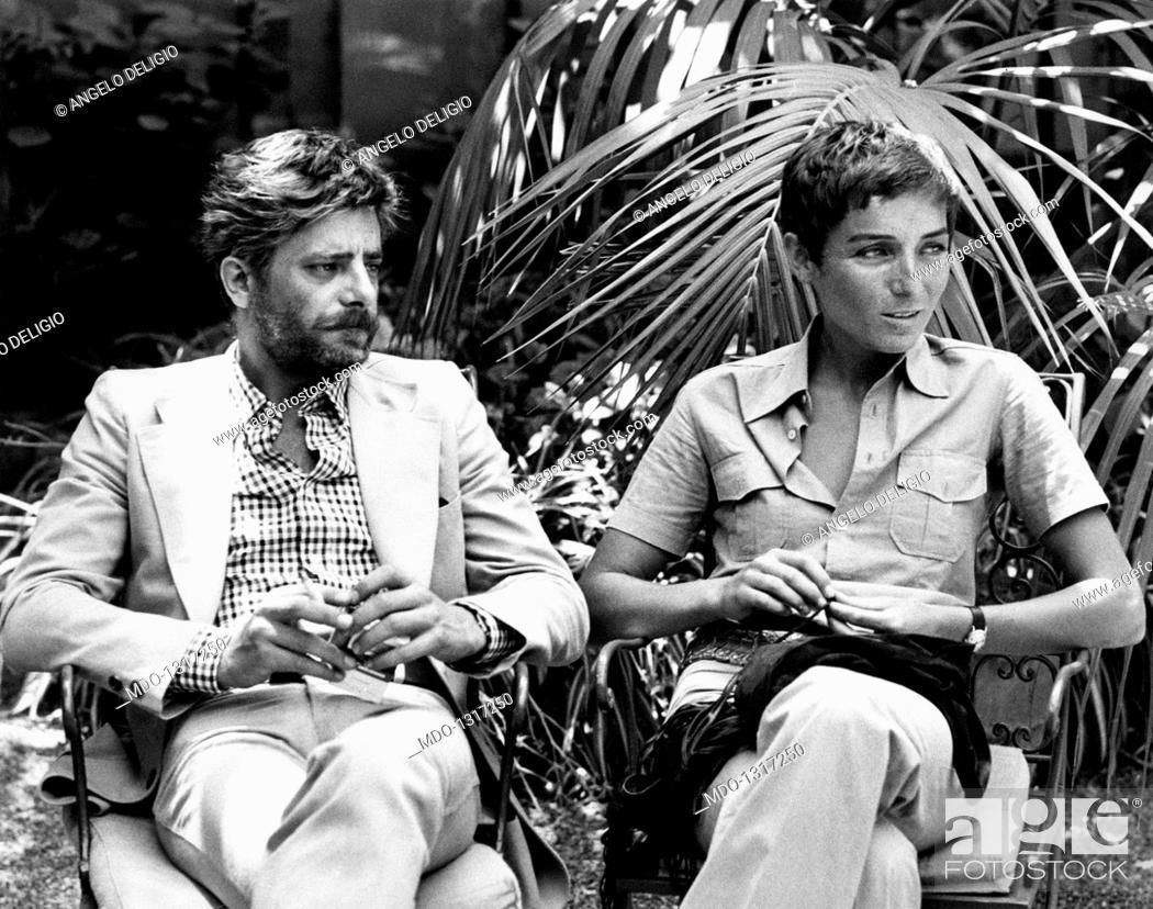 Photo de stock: Giancarlo Giannini with his wife Livia Giampalmo. Italian actor and voice actor Giancarlo Giannini and his wife, the Italian voice actress Livia Giampalmo.