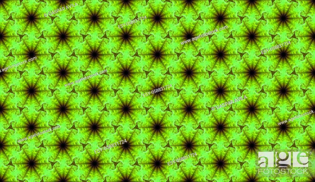 Stock Vector: Lettuce is green. Geometric pattern.