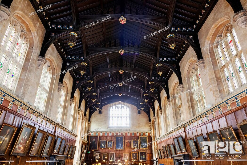 Stock Photo England Oxfordshire Oxford Christ Church College The Great Hall Dining Room