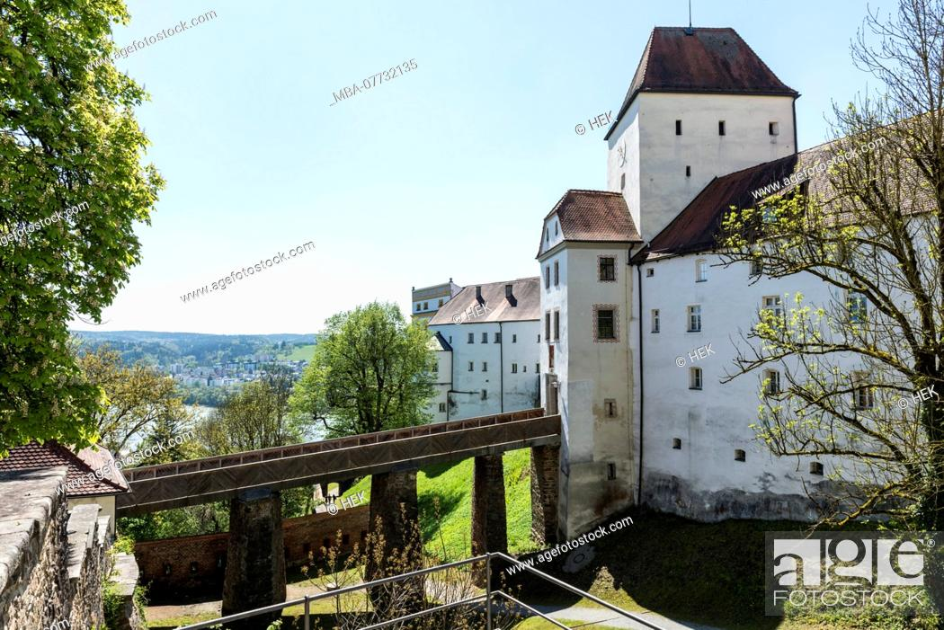 Stock Photo: The Veste Upper House in Passau.