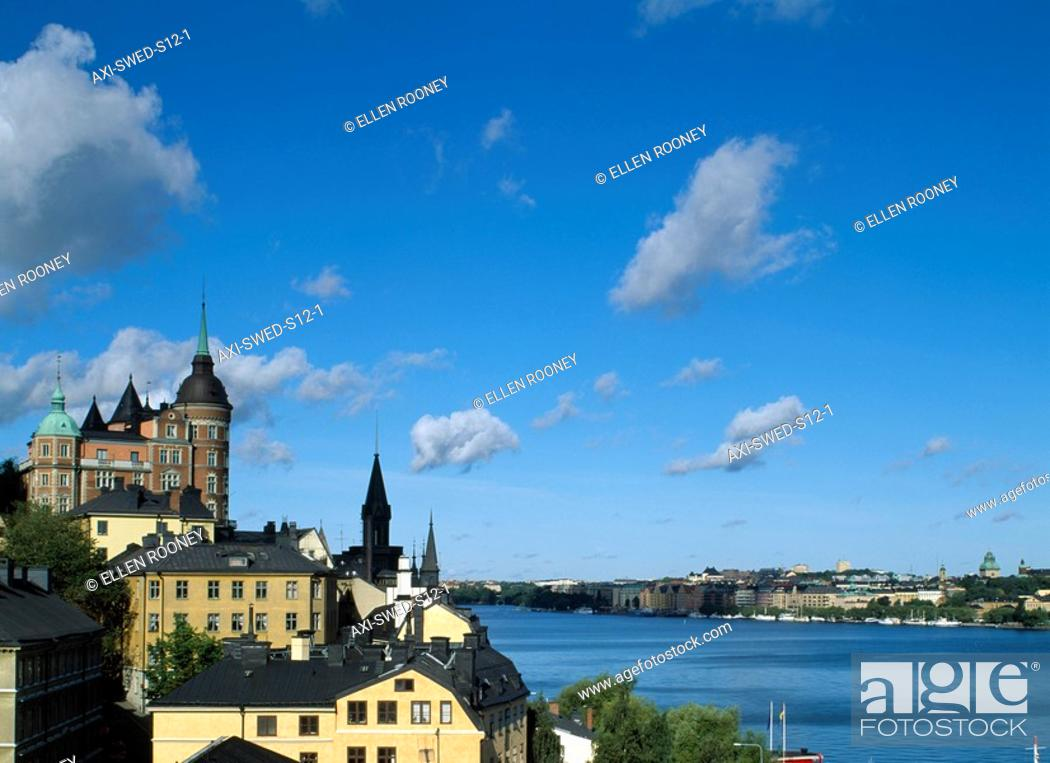 Stock Photo: View over Sodermalm, Stockholm, Sweden.