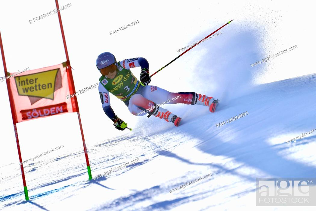 Stock Photo: Tessa WORLEY (FRA), Action, Giant Slalom Ladies, Ladies` Giant Slalom. Alpine Skiing, World Cup in Soelden on the Rettenbachferner, Rettenbach glacier.