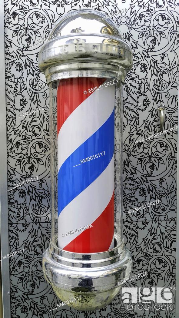 Stock Photo: Barber pole.