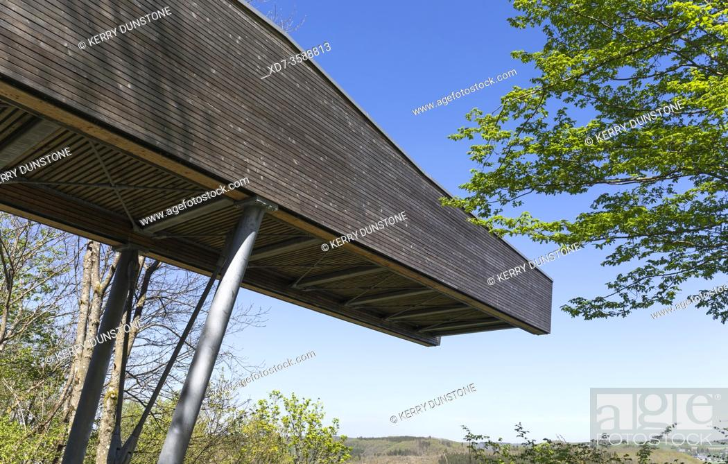 """Stock Photo: Europe, Luxembourg, Insenborne, """"""""The Belvedere"""""""" Viewing Platform above Lac Sure."""