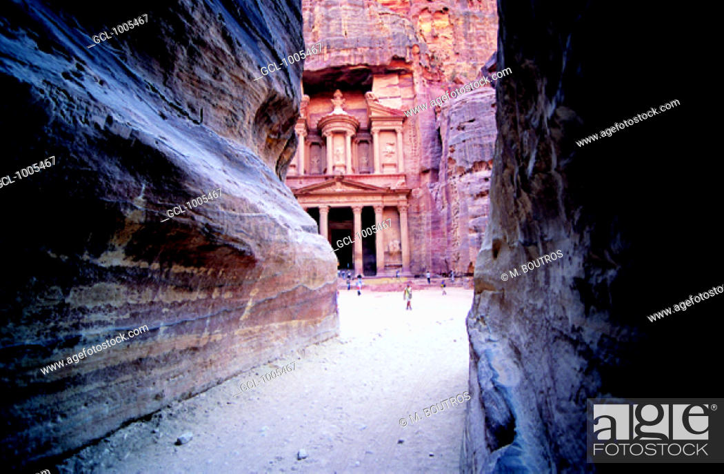 Stock Photo: Al Khazneh (The Treasury), Petra, Jordan.