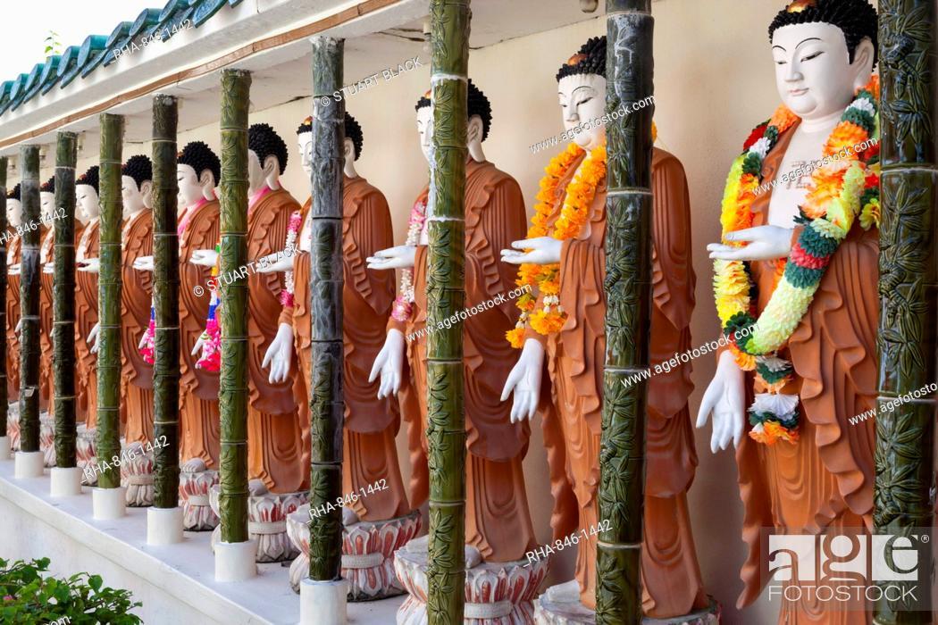 Stock Photo: Statues of Buddha's inside the Kek Lok Si Temple, Crane Hill, Georgetown, Pulau Penang, Malaysia, Southeast Asia, Asia.