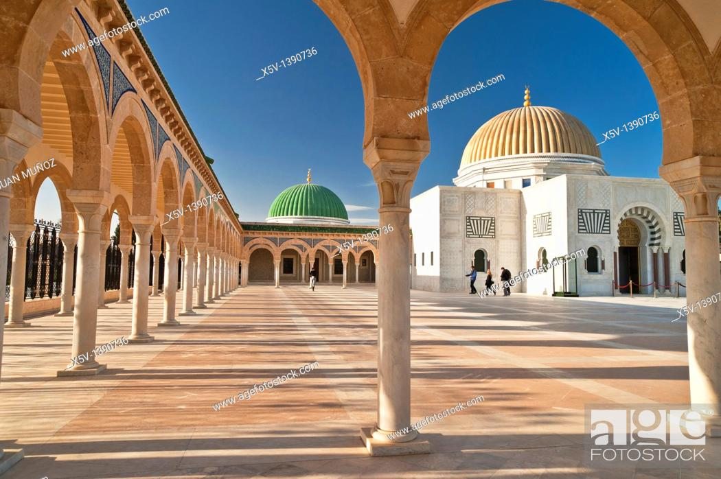 Stock Photo: Habib Bourguiba Mausoleum, Monastir, Tunisia.
