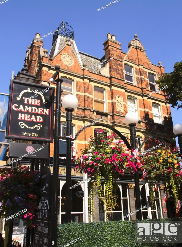 Stock Photo: The Camden Head Pub Islington London.