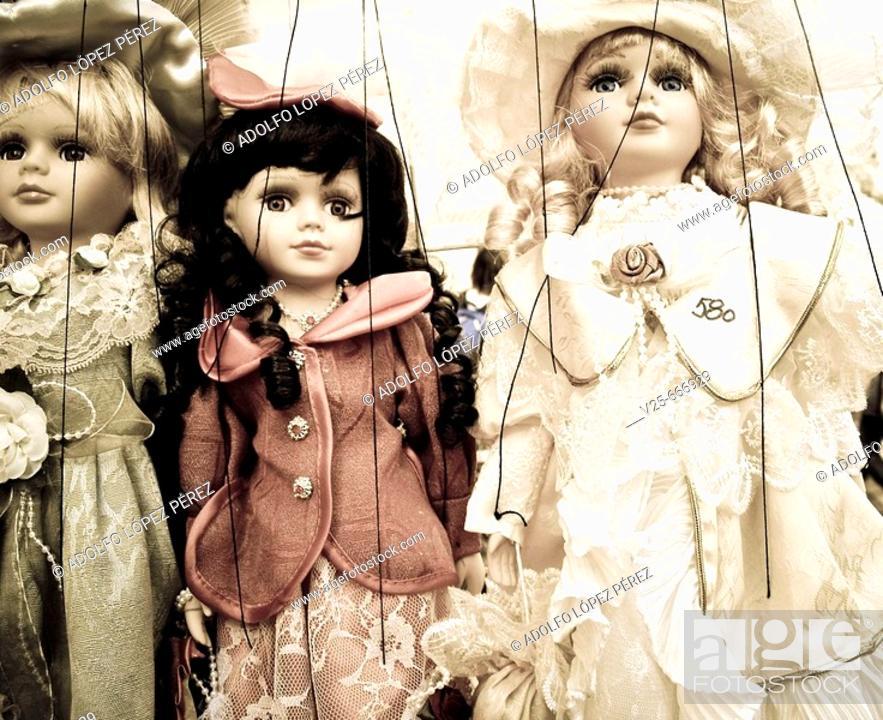 Stock Photo: Puppets. Prague, Czech Republic.