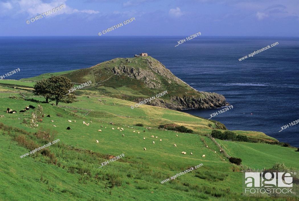 Stock Photo: Torr Head, coast of Antrim, around Cushendun, Northern Ireland, United Kingdom, Western Europe.