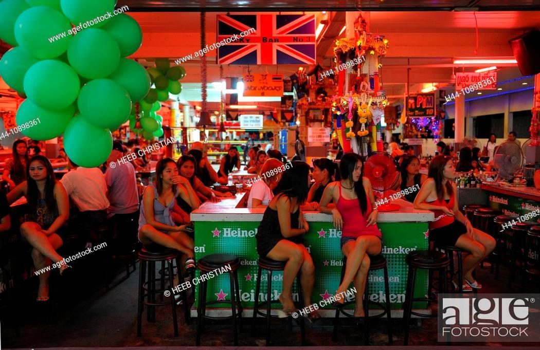 Stock Photo - Nightlife, Walking Street, Pattaya, Thailand, Asia, people,  bar