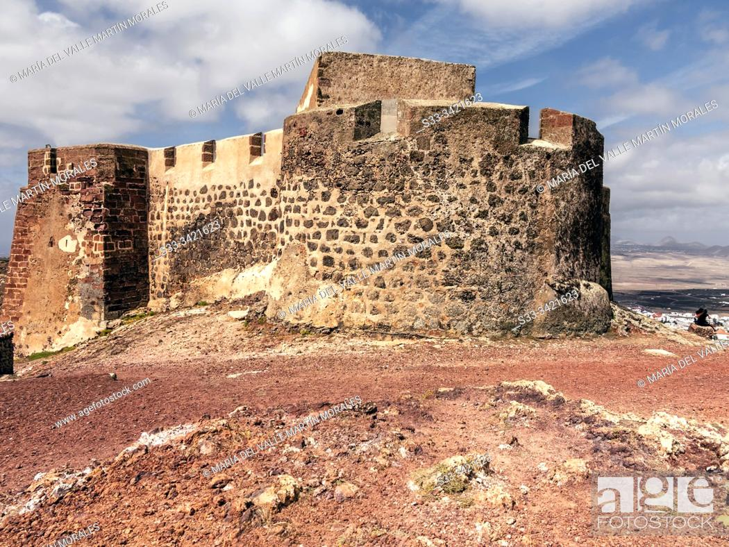 Stock Photo: Sta. Barbara castle in Teguise. Lanzarote. Canary Islands. Spain. Europe.