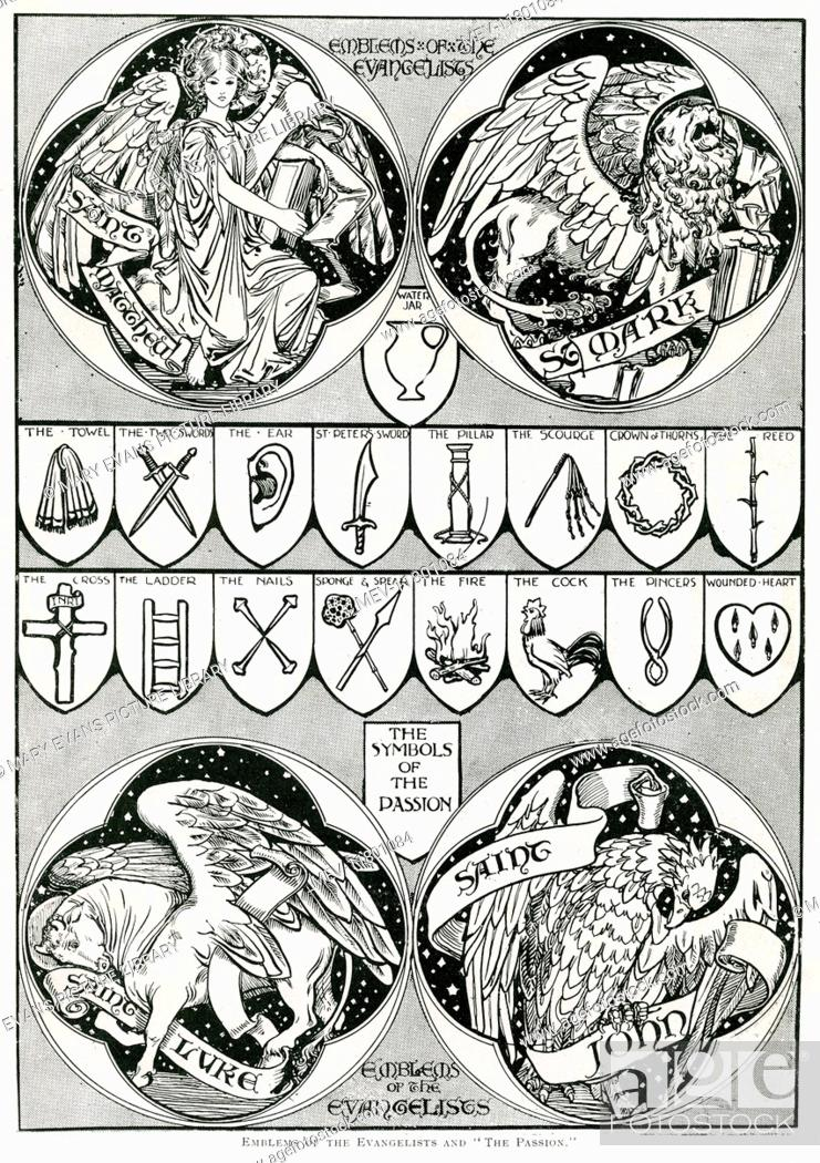 Emblems Of The Evangelists And The Passion The Symbols Of The