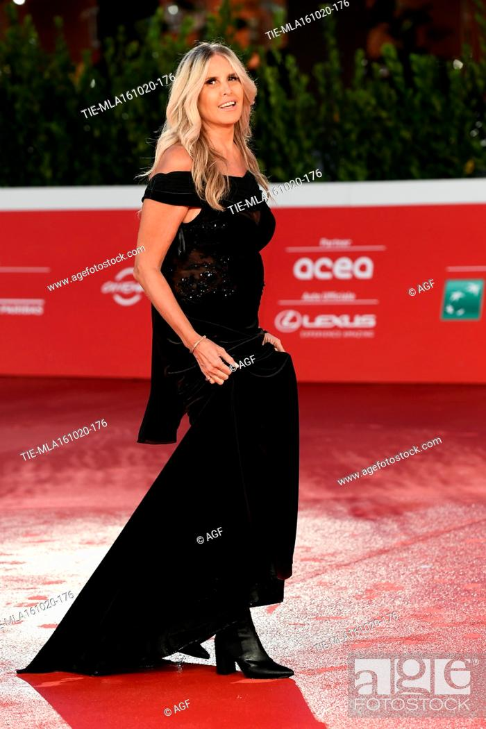 "Stock Photo: Tiziana Rocca attends the red carpet of the movie """"Supernova"""" during the 15th Rome Film Festival on October 16, 2020 in Rome, Italy."