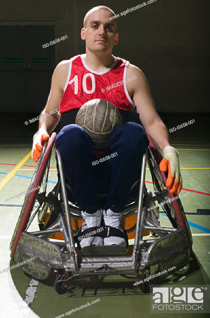 Stock Photo: Basketball player in a wheelchair.