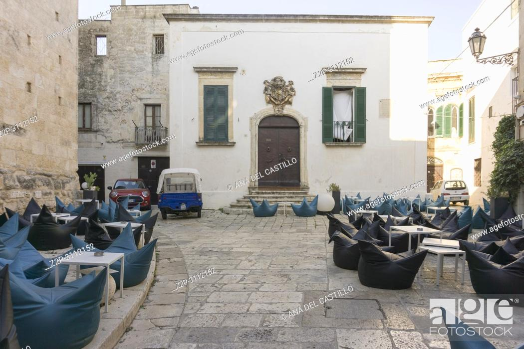 Stock Photo: Cityscape in Ostuni Brindisi Puglia Italy on July 13, 2018.