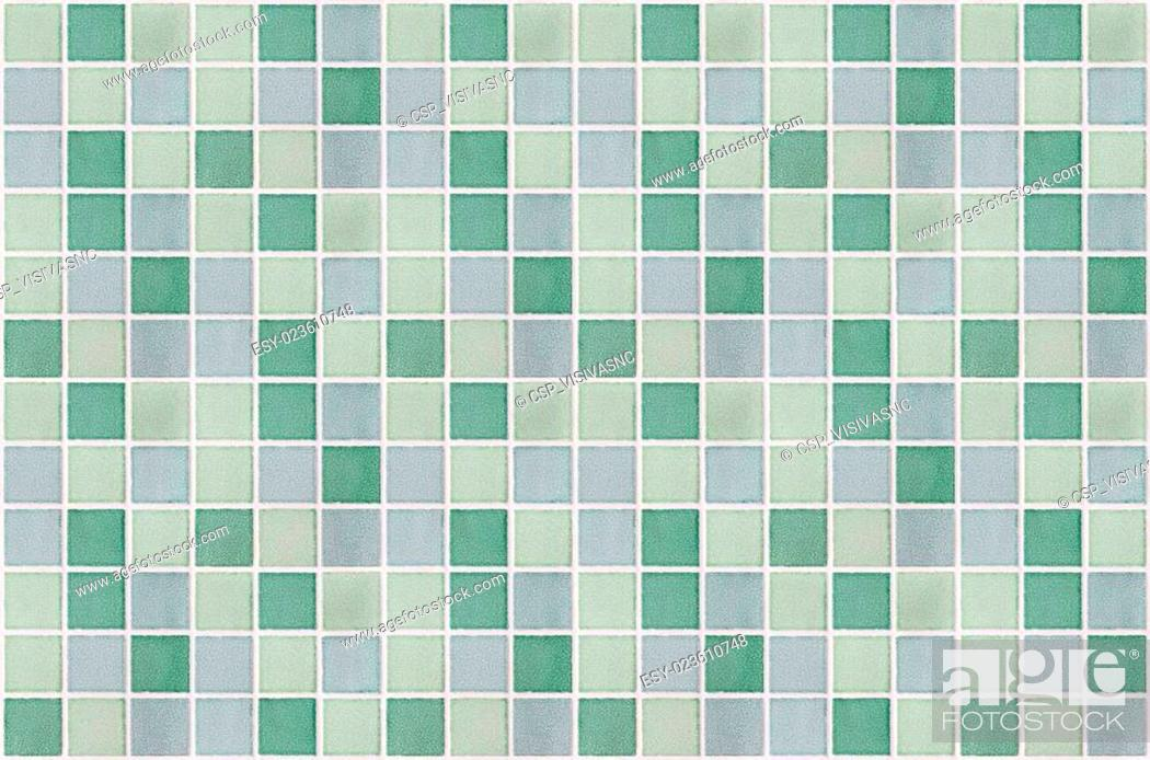 Stock Photo: mosaic marble tiles green square.