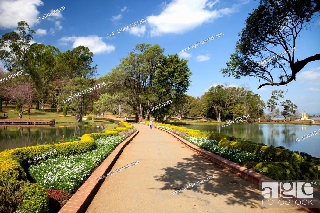 Stock Photo: Myanmar, Mandalay, Maymyo. Idyllic view of Maymyo Botanic Gardens in Myanmar.