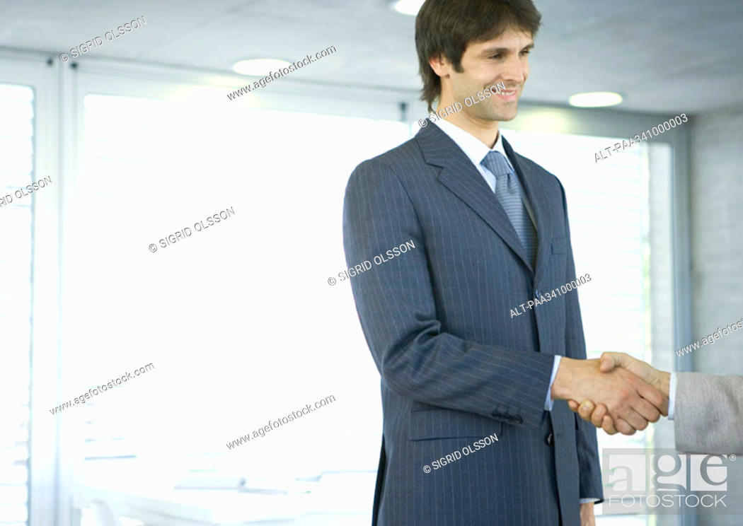 Stock Photo: Businessman shaking hands.