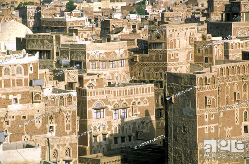Stock Photo: Yemen, Sanaa, city built in adobe.