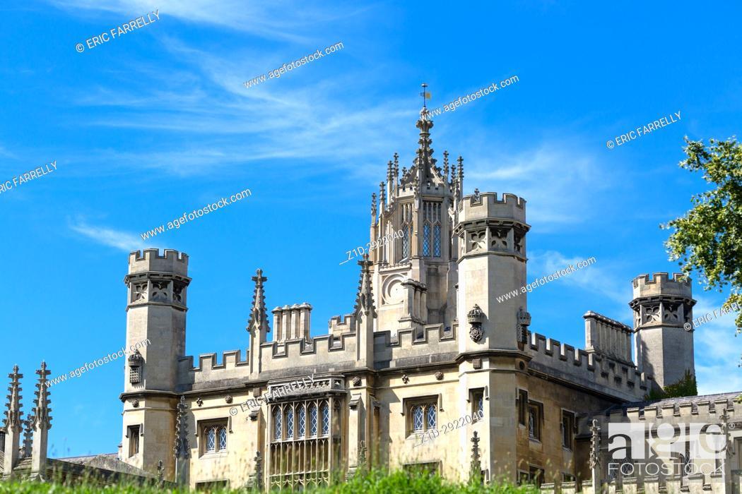 Imagen: st johns college chapel Cambridge, England UK.