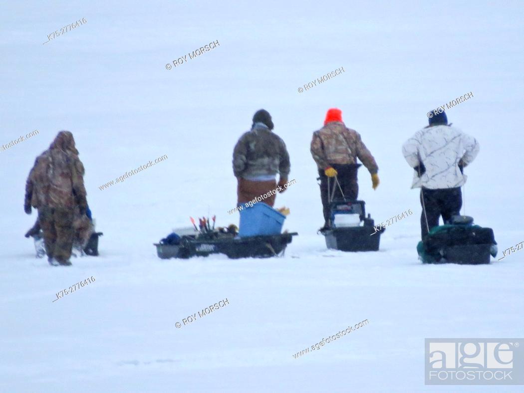 Stock Photo: Ice fishing.