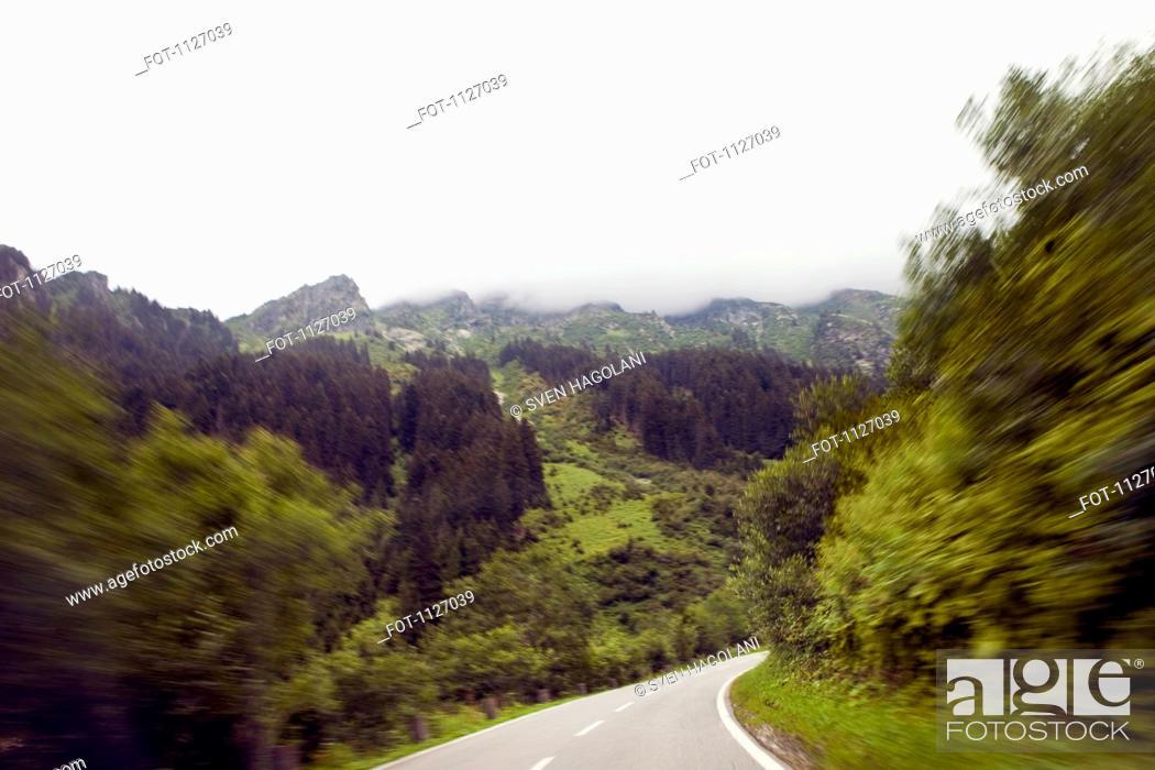 Stock Photo: Driving through Tirol in Austria.